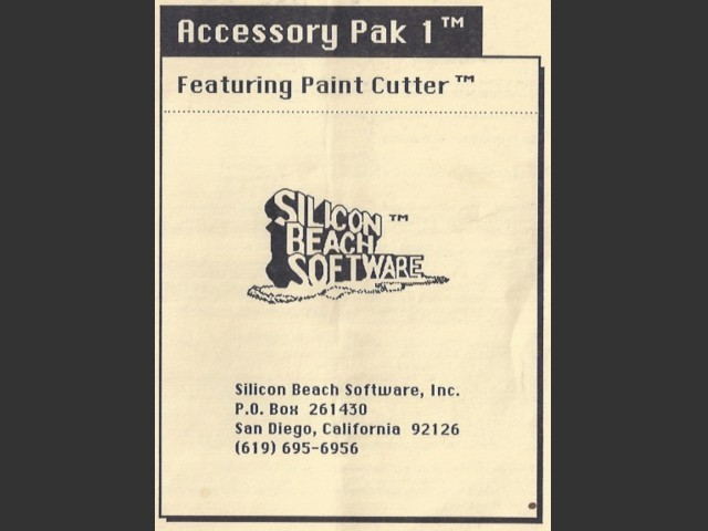 Accessory Pak 1 (1985)
