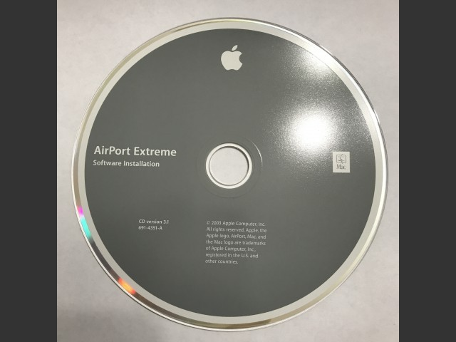 691-4351-A,,AirPort Extreme. Software Installation. Disc v3.1 (CD) (2003)