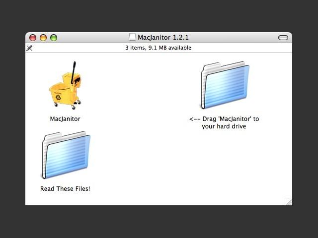 MacJanitor DMG contents