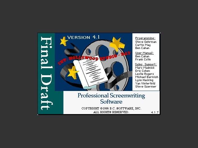 Final Draft 4 (1996)