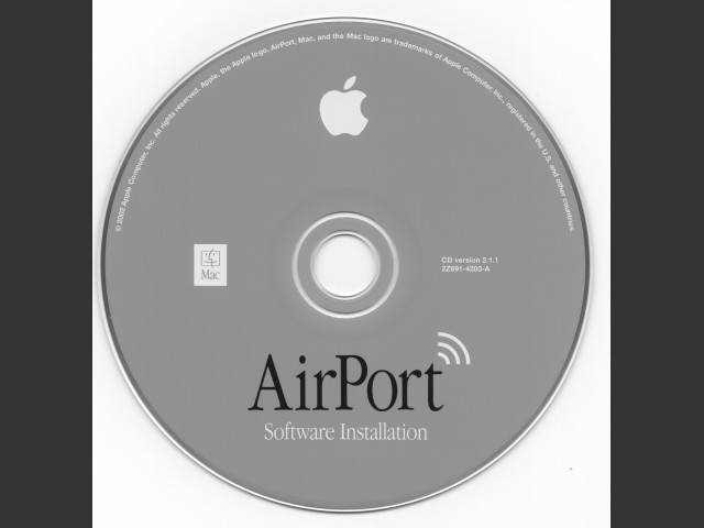 Stock Image of AirPort Software Installation Disc