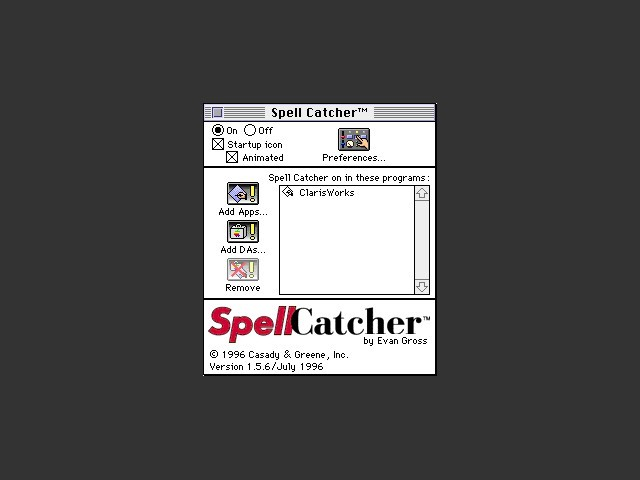 Spell Catcher 1.5.6 (1996)