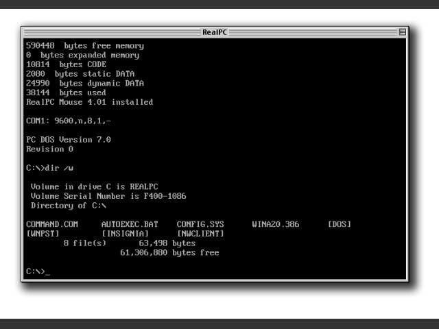 RealPC 1.1 (1997)