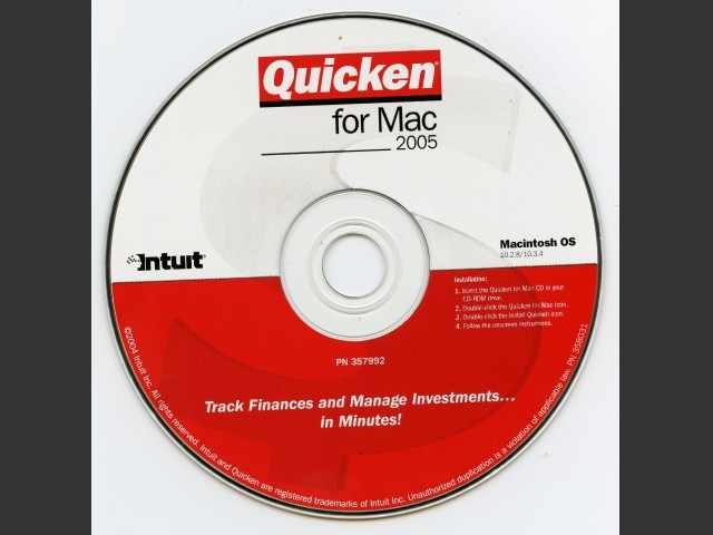 Quicken 2005 for Mac (2004)