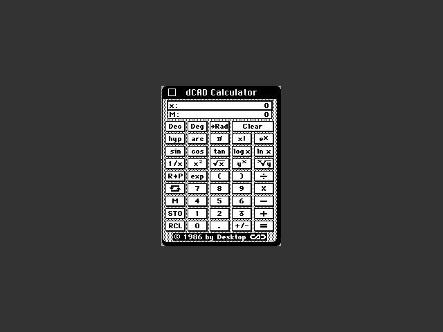 dCAD Calculator (1986)