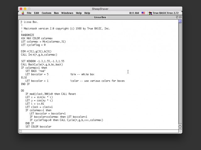 Editing a program