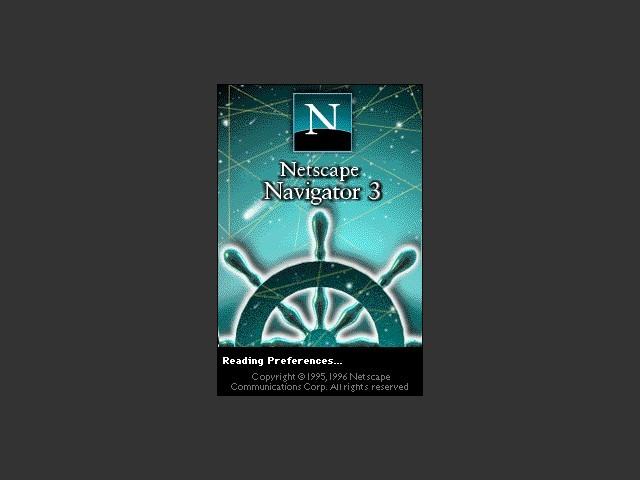 Netscape 3.0.1 standard edition splash screen