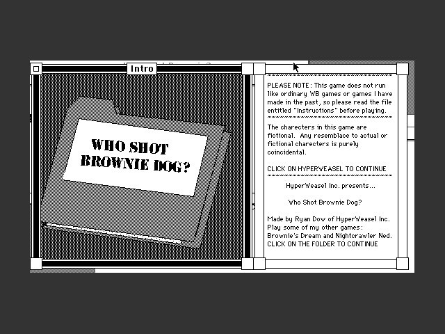 Who Shot Brownie Dog? (0)