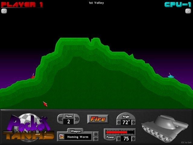 Pocket Tanks in-game screenshot