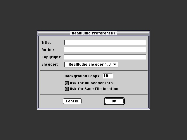 RealAudio Preferences