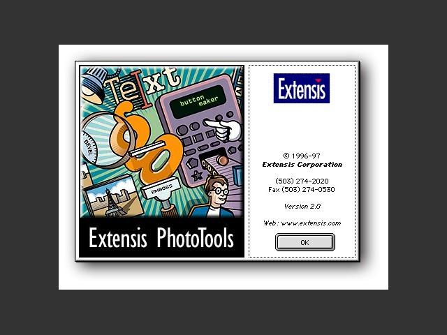 About PhotoTools 2 splash screen