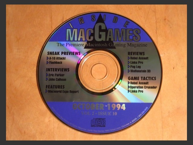 Inside Mac Games CD October 1994 (1994)