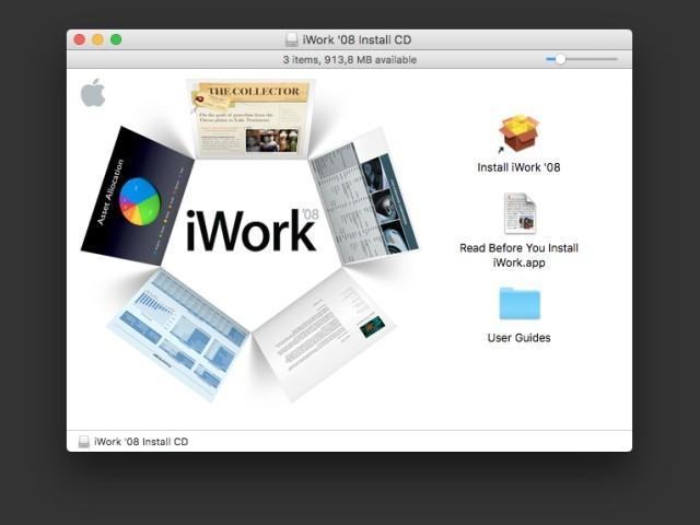 iWork 08 Install Window