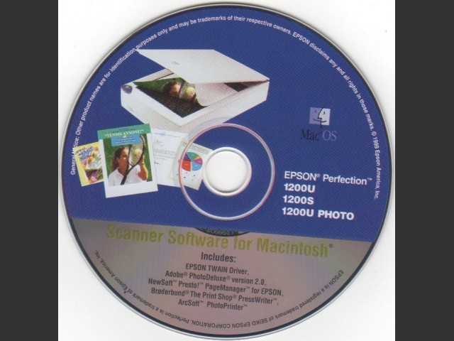 Epson 1200U Scanner Software w/PhotoDeluxe 2 and More (1999)