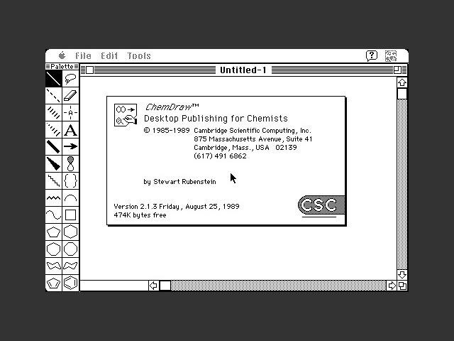 ChemDraw 2.1.3 (1989)
