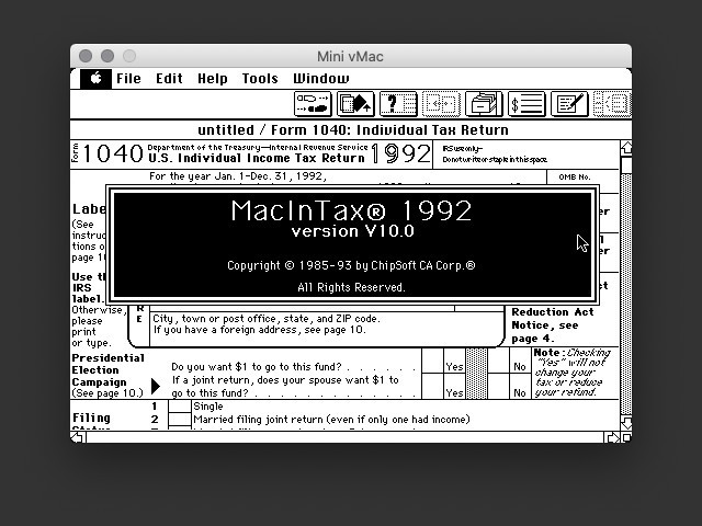 MacInTax 1992 (1992)