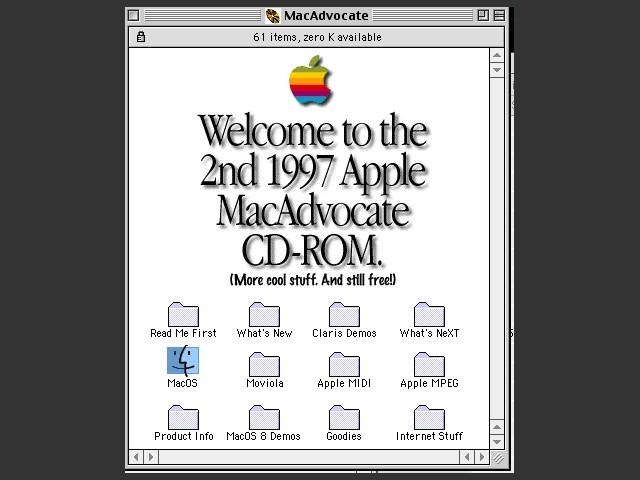MacAdvocate II Fall 1997 CD contents