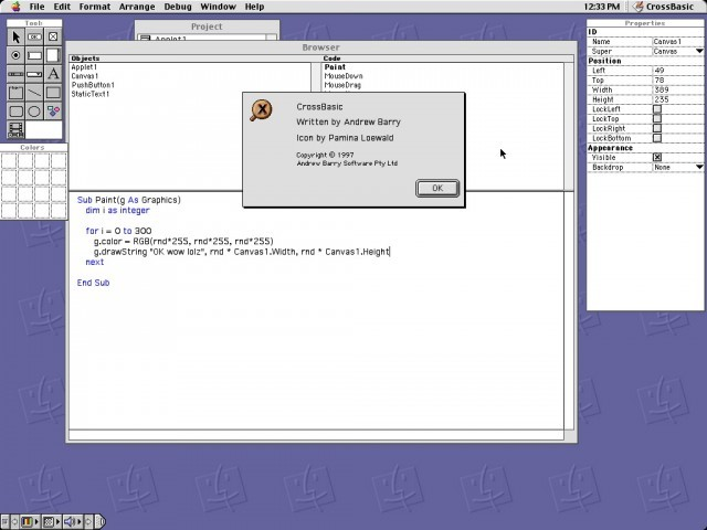 Main interface and About window