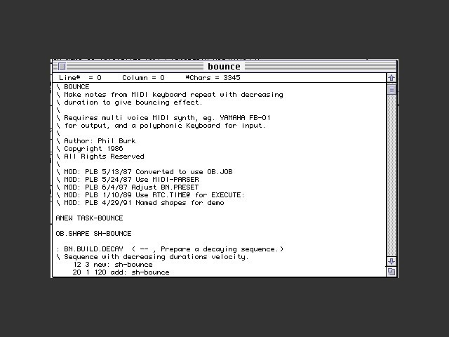 HMSL - Hierarchical Music Specification Language (1992)