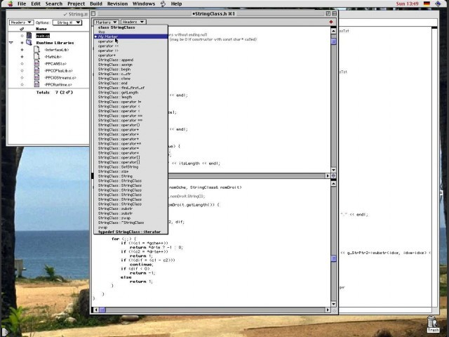 Split editor with user set marker selection