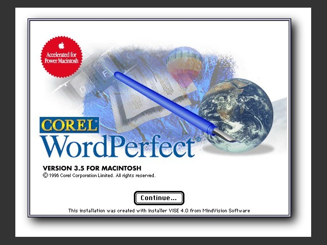 WordPerfect 3.5.1 [Corel] (1996)