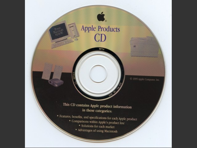 Apple Products 1995 (CD) (1995)