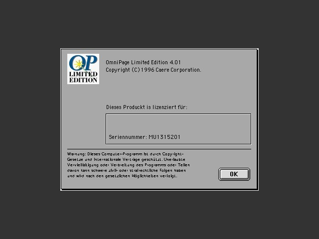 OmniPage 4.0.1 LE (1996)