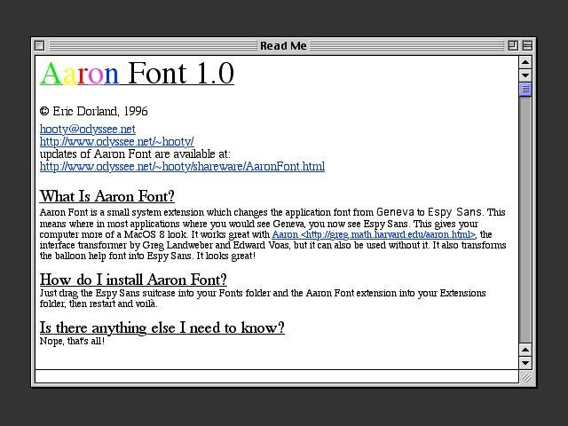 Aaron Font 1.0 (1996)
