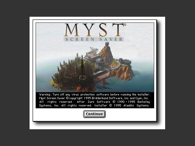 Myst Screen Saver Installer dialog