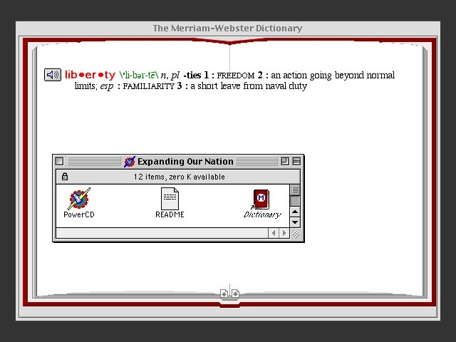 Sample entry (Webster)