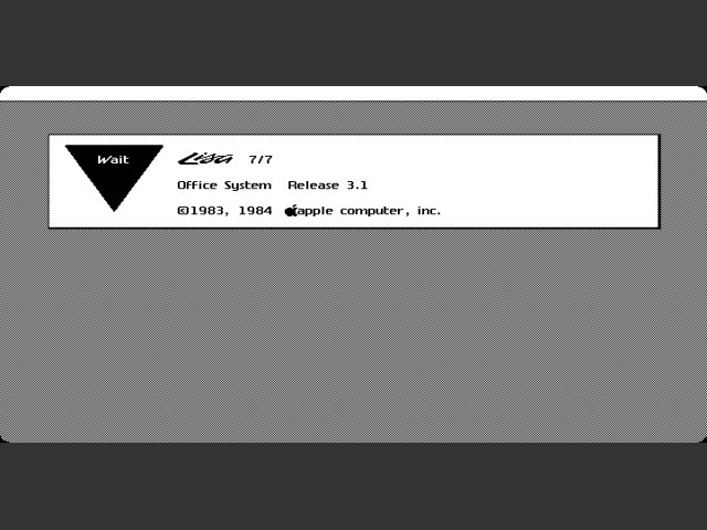 Lisa OS 3.1 booting up