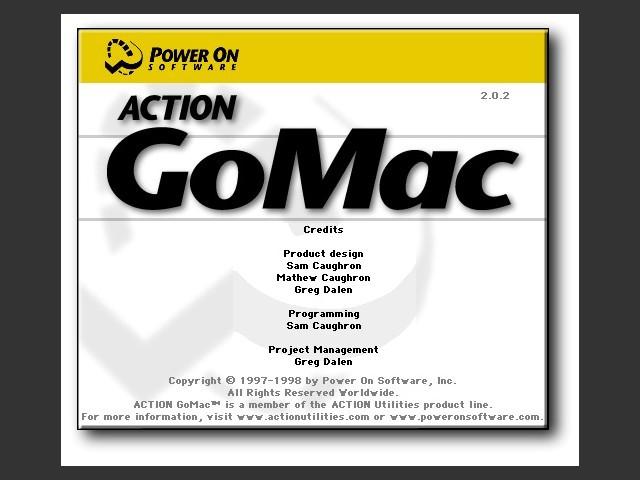 Action GoMac's Splashscreen