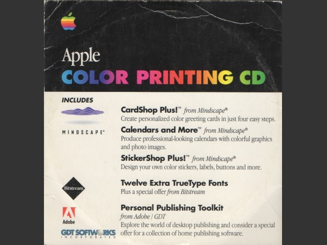 Apple Color Printing CD (1996)