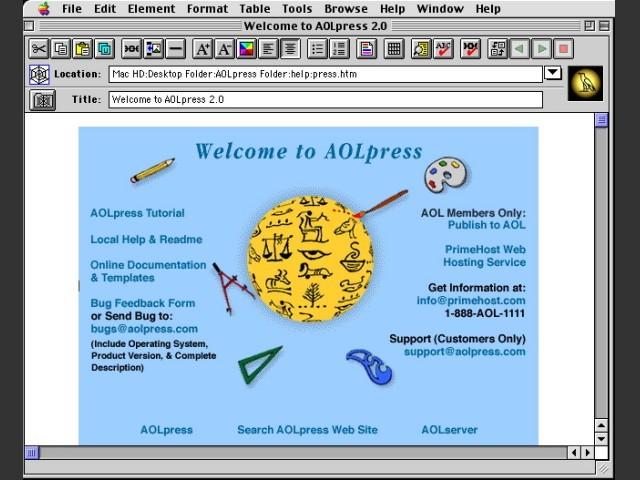 AOLpress 2.0 (1997)