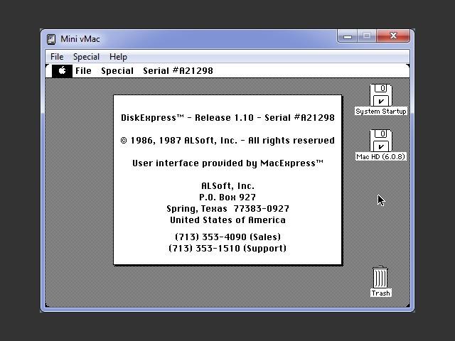 DiskExpress 1.10 (1987)