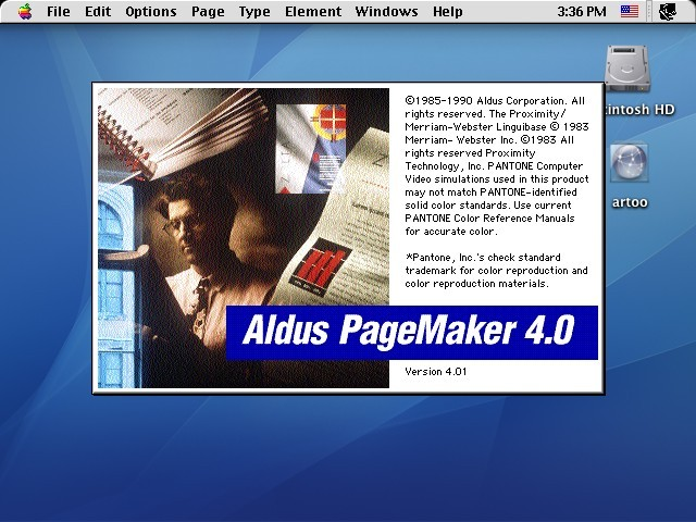 Aldus PageMaker 4.0.1 (1990)