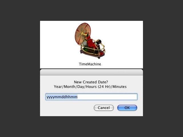 TimeMachine: GUI Front-End for Terminal's 'Touch' Command (2013)