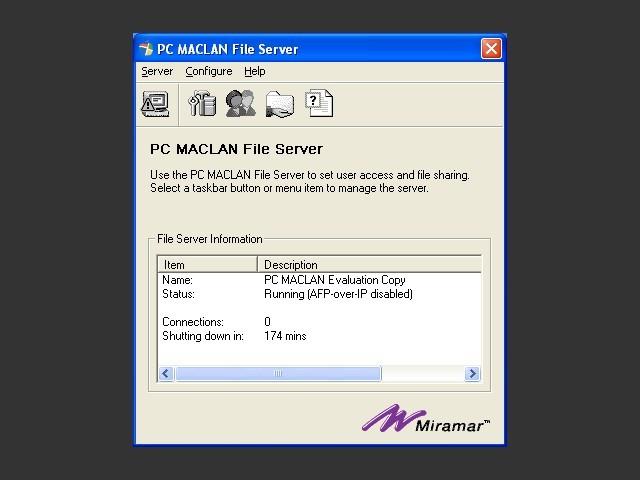 PC MacLAN for Windows NT/2K/XP