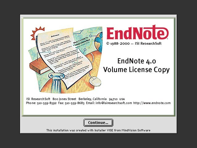 EndNote 4.0 (2000)