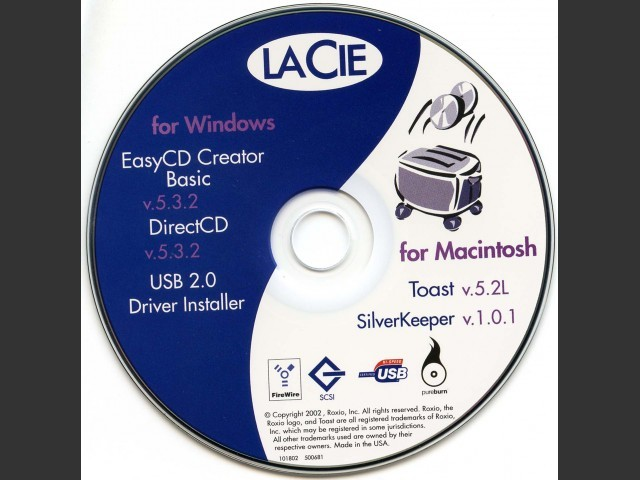 LaCie CD-RW Utilities (2002)