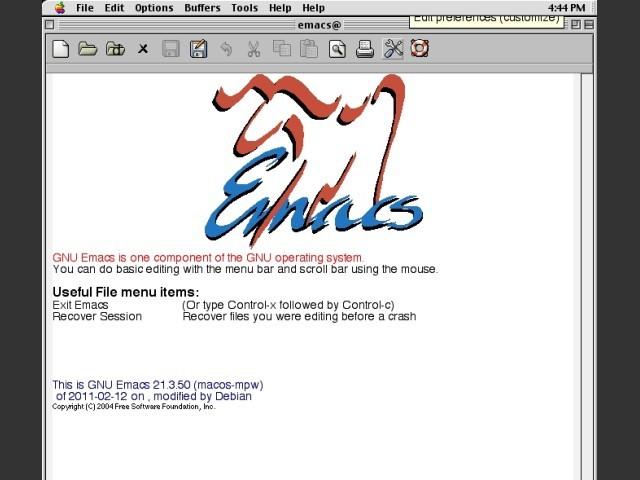 Emacs 21.3.50 (2005)