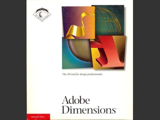Adobe Dimensions 1.0 (1992)