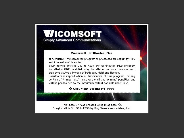 Vicomsoft SoftRouter Plus 6.5.2 (1999)