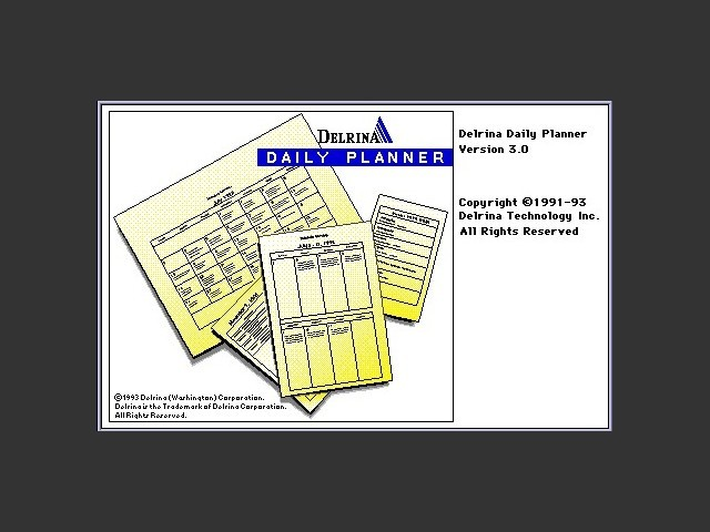 Delrina Daily Planner 3.0 (1993)