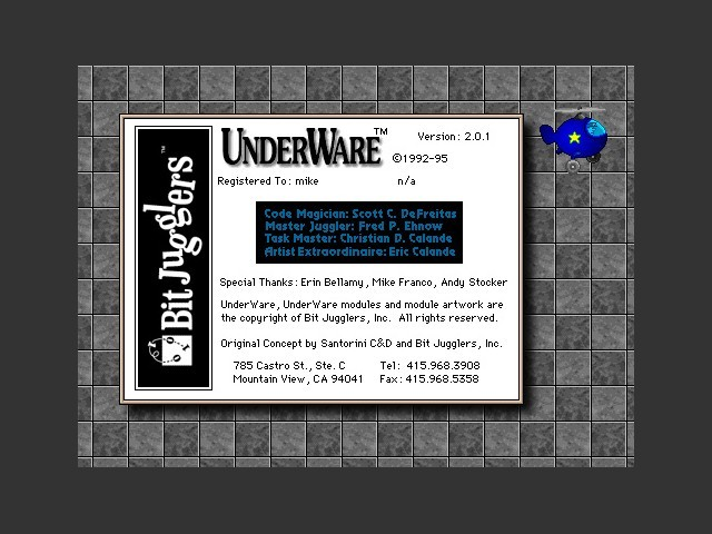 About UnderWare 2.0 .1 splash