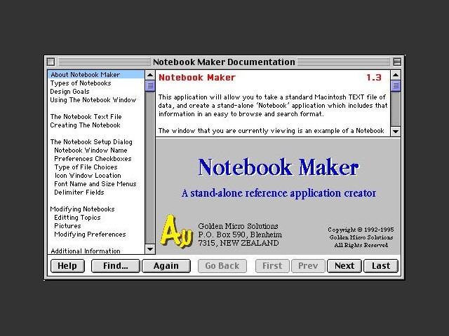 Notebook Maker (1995)