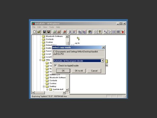 HFVExplorer / Preparing file copy