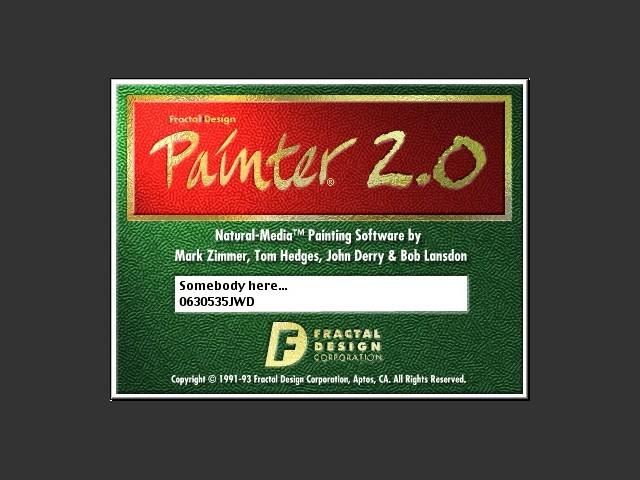 Painter 2.0a + X2.0 (1993)