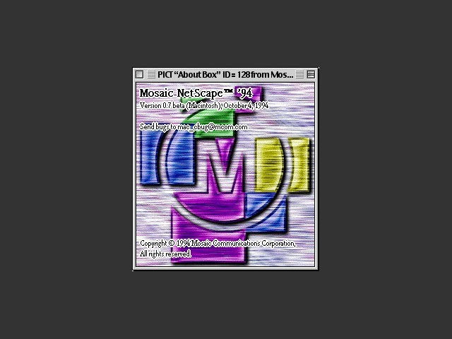Mosaic Netscape  0.9b (1994)