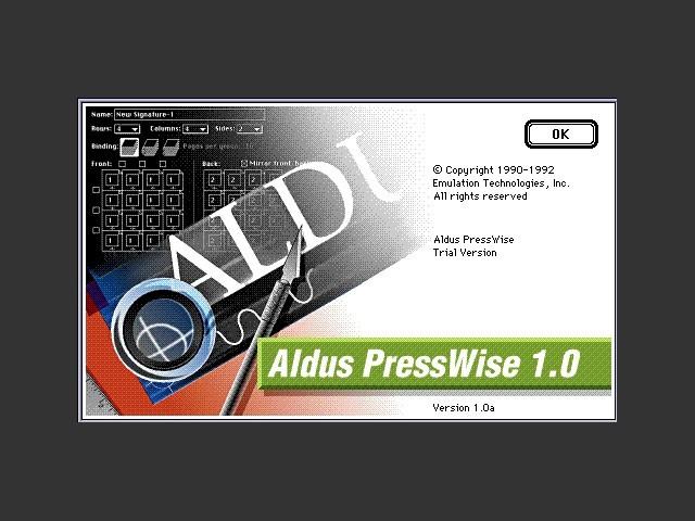 Aldus PressWise 1.0 (1992)